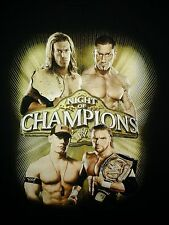 WWE Night of Champions 2008 XL T-Shirt John Cena Edge Triple H NXT WWF WCW TNA