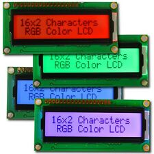 RGB LCD Dot-Matrix Display 16x2 2x16 1602 red rot green grün blau blue HD44780