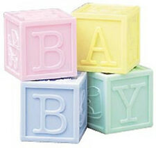 Pastel Baby Block Containers Favors 4 pc Set Wilton #419 - NEW