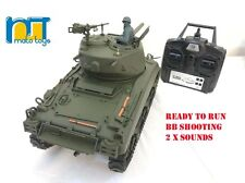 MATO Radio  Remote Controlled RC 2.4G Tank M4A1 SHERMAN 1/16 with 2 Sounds UK !