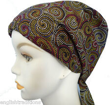 Striking Cancer Chemo Hair Loss Alopecia 100% Cotton Head Cover Scarf Turban Hat