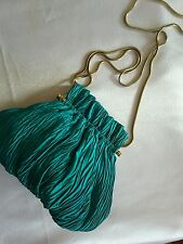 Vtg Vanessa Green Satin Crepe Evening Bag Exclusively for Fashion Imports
