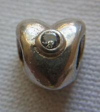 Original Pandora Beads Element 790134CZ Funkelndes Herz Liebe Silber Charms  7