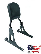 GLOSS BLACK HARLEY DAVIDSON DETACHABLE DYNA BACKREST SISSY BAR STREET BOB 2006++
