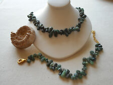 Stauer Caymen Uncut Raw Emerald Necklace & Bracelet Set W Case   858512