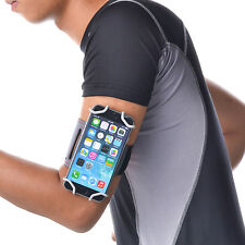 TFY Open-Face Sport Armband + Key Holder for over 5.5 Inch Cell Phone