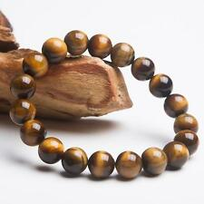 8MM Natural Color Tiger Eye Stone Gemstone Beads Men Jewelry Bracelet Bangle MT