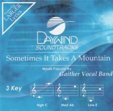Sometimes It Takes A Mountain Accompaniment CD By Gaither Vocal Band 2015 NEW