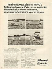 Publicité Advertising 1971  AUSTIN MAXI