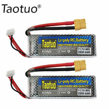 2pc 2200mAh 40C 11.1V 3S XT60 Plug Lipo Battery For RC Helicopter Airplane Align