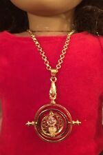 AMERICAN GIRL DOLL SIZED TIME TURNER NECKLACE FOR HARRY POTTER & HERMIONE FANS