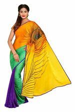 Bhagalpuri beautiful party wear printed saree with unstitch blouse