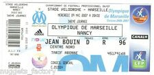 Billet  / Place  OM Olympique de Marseille - OM vs Nancy  ( 034 )