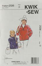KwikSew Pattern #2537 Boys & Girls Vest & Jacket Size (4-5-6-7)