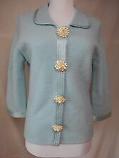 Sleeping on Snow Anthropologie Cardigan Sz M Light Blue Vintage Pearl Buttons