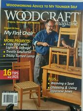Woodcraft Magazine Aug Sept 2016 My First Chair Tips Jigs Saws FREE SHIPPING sb