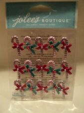 EK SUCCESS JOLEE'S BOUTIQUE CANDY CANE MINI REPEATS DIMENSIONAL STICKERS BNIP