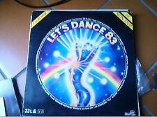 """LP 12"""" LET'S DANCE 83 FRANCE CLUBMIX DE BLANC WARP9 LOVEAND KISSES PURE ENRGY EX"""