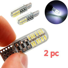 2Pcs T10 W5W LED Waterproof  24 SMD Wedge License Plate Side Turn Signal Light