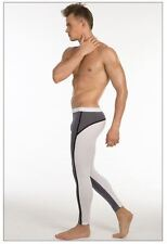 Men's large blanc & gris compression running collants formation activewear gay uk
