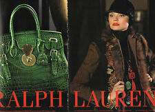 Publicité Advertising 2014  (2 PAGES)  RALPH LAUREN  sac à main collection mode