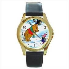 WINNIE THE POOH & PIGLET SNOW GOLD-TONE WATCH 3 OTHER STYLES  XMAS GIFT