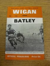 13/12/1967 Rugby League Programme: Wigan v Batley  . Thanks for taking the time