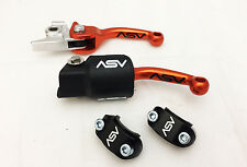 ASV F3 Holiday Pack Shorty Orange  Unbreakable Folding Brake Clutch Levers KTM