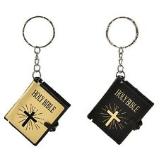 1PC Mini Bible Keychain English HOLY BIBLE Religious Christian Jesus Cross Gift
