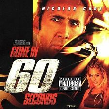 GONE IN 60 SECONDS - SOUNDTRACK CD ~ NICOLAS CAGE ~ ANGELINA JOLIE SIXTY *NEW*