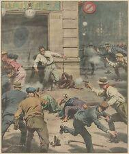K1256 L'uccisione del nemico pubblico n. 1 John Dillinger - Stampa - 1934 print