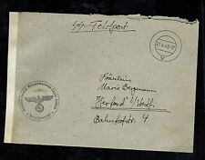 1940 Lublin Germany Cover SS Feldpost Commandant Concentration Camp to Herford
