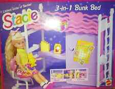 1993 Mattel Stacie Little Sister of Barbie 3-In-1 Bunk Bed Bedroom Desk Set