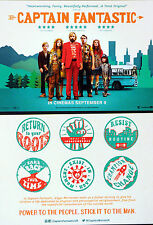 2 X CAPTAIN FANTASTIC FILM POSTCARDS - VIGGO MORTENSEN ANNALISE BASSO