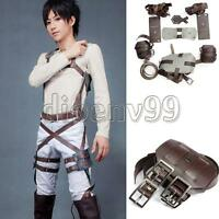 Cosplay Attack On Titan Shingeki no Kyojin Belts Adjustable Straps Harness Recon