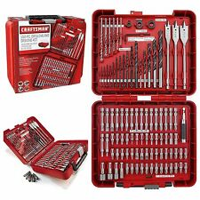 Craftsman 100-PC Drill Bit Driver Kit Accessory Drilling Set Case Bits Tools