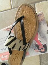 NEW SKECHERS DECADENCE SUMMER SAFARI ZEBRA FLIP FLOP SANDAL WOMENS 10 FREE SHIP