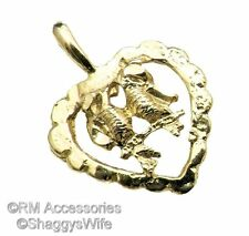 Love Birds in Heart Charm / Pendant EP Gold Plated with a Lifetime Guarantee