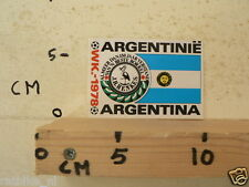 STICKER,DECAL WK ARGENTINA 1978 VOETBAL,SOCCER JH HENKES ARGENTINA ARGENTINIE