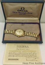 Vintage 1950s Bumper Automatic Omega Mens Watch Original Box Papers