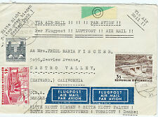 Wien Castro Vally Österreich Austria AT USA Airmail Lupo Avion 1962 Post (B-593)
