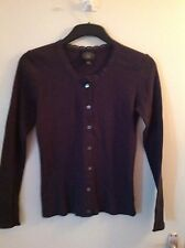 Laura Ashley charcoal grey cotton blend cardigan size small. new