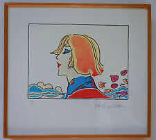"""Peter Max """"The Young Prince"""" Framed Limited Edition Lithograph Hand Signed COA"""