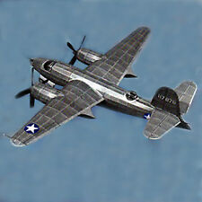 1/28 Scale American WW-II Martin B-26 Marauder Twin Plans, Templates, Instruct