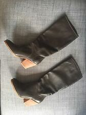 Rachel Comey Carrier Tall Knew-High Brown Leather Boot Size 36