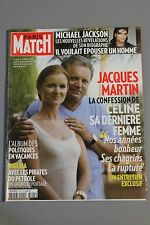PARIS MATCH N°3145 27 AOUT 2009 JACQUES MARTIN/ MICHAEL JACKSON