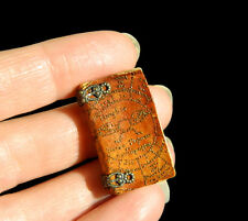 Leather Book made by the artisan - EV miniatures - dolls house Witch Miniature