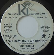 BILLY OSBORNE & THE TRACERS: My Baby Gives Me Loving Rare RIC 45 rockabilly