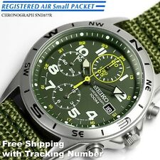 SEIKO SND377 SND377R Chronograph 100m Green New Men's Watch Japan Free Shipping