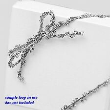 """Metallic Silver Garland 6"""" Pre-tied Stretch Loops for Jewelry Gift Boxes 25pc"""